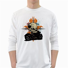Skull Classic Motorcycle Long Sleeve T-Shirt
