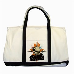 Skull Classic Motorcycle Two Tone Tote Bag