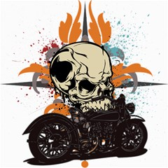 Skull Classic Motorcycle Canvas 12  x 12
