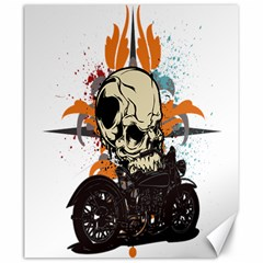 Skull Classic Motorcycle Canvas 20  x 24