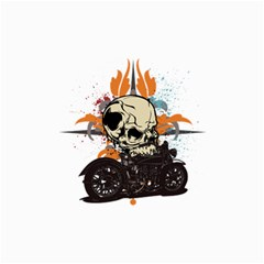 Skull Classic Motorcycle Canvas 24  x 36