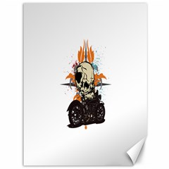Skull Classic Motorcycle Canvas 36  x 48