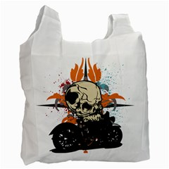 Skull Classic Motorcycle Recycle Bag (one Side)