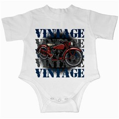 Vintage Motorcycle Multiple Text Shadows Infant Creeper