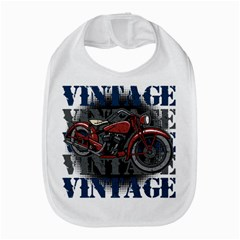 Vintage Motorcycle Multiple Text Shadows Bib