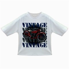 Vintage Motorcycle Multiple Text Shadows Infant/Toddler T-Shirt