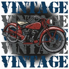 Vintage Motorcycle Multiple Text Shadows Canvas 12  x 12