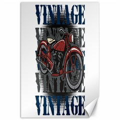 Vintage Motorcycle Multiple Text Shadows Canvas 20  x 30