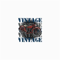 Vintage Motorcycle Multiple Text Shadows Canvas 36  X 48