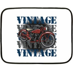 Vintage Motorcycle Multiple Text Shadows Mini Fleece Blanket(Two Sides)