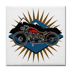 Classic Vintage Motorcycle Tile Coaster