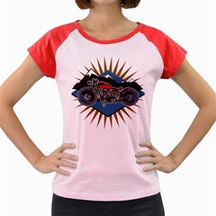 Classic Vintage Motorcycle Women s Cap Sleeve T-Shirt
