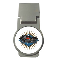 Classic Vintage Motorcycle Money Clip (Round)