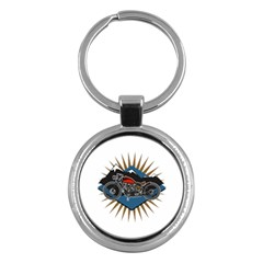 Classic Vintage Motorcycle Key Chain (round)
