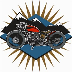 Classic Vintage Motorcycle Canvas 16  X 16