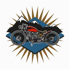 Classic Vintage Motorcycle Canvas 20  x 24