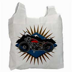 Classic Vintage Motorcycle Recycle Bag (One Side)