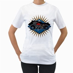 Classic Vintage Motorcycle Women s T Shirt (white)