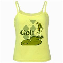 Classic Golf Yellow Spaghetti Tank