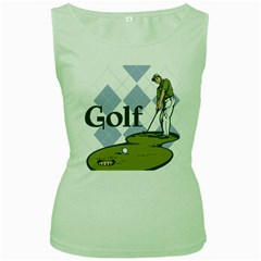 Classic Golf Women s Green Tank Top