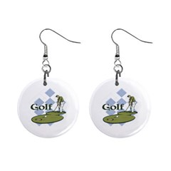 Classic Golf 1  Button Earrings