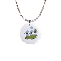 Classic Golf 1  Button Necklace