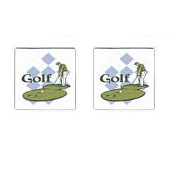 Classic Golf Cufflinks (square)