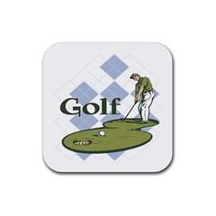 Classic Golf Rubber Coaster (square)