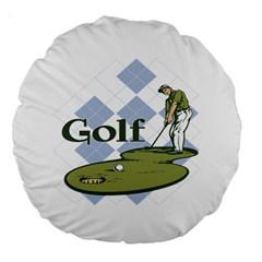 Classic Golf 18  Premium Round Cushion