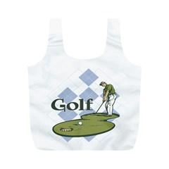 Classic Golf Full Print Recycle Bag (m)