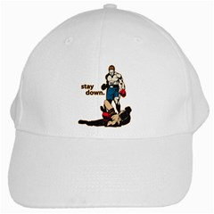 Stay Down Boxing White Cap