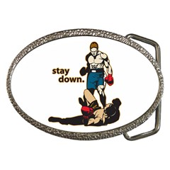 Stay Down Boxing Belt Buckle