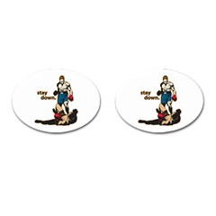 Stay Down Boxing Cufflinks (Oval)