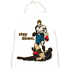 Stay Down Boxing Full Print Apron