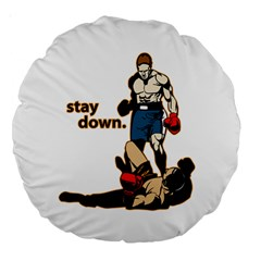 Stay Down Boxing 18  Premium Round Cushion