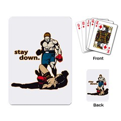 Stay Down Boxing Playing Cards Single Design