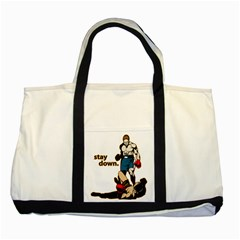 Stay Down Boxing Two Tone Tote Bag