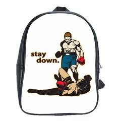 Stay Down Boxing School Bag (large)