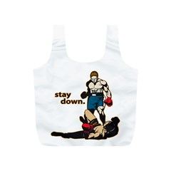 Stay Down Boxing Full Print Recycle Bag (S)