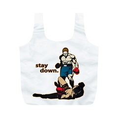 Stay Down Boxing Full Print Recycle Bag (M)