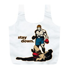 Stay Down Boxing Full Print Recycle Bag (l)