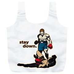 Stay Down Boxing Full Print Recycle Bag (xl)