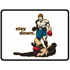 Stay Down Boxing Fleece Blanket (Extra Large)