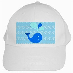 Playing In The Waves White Baseball Cap