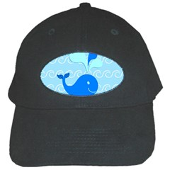 Playing In The Waves Black Baseball Cap