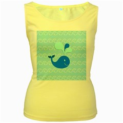 Playing In The Waves Women s Tank Top (Yellow)
