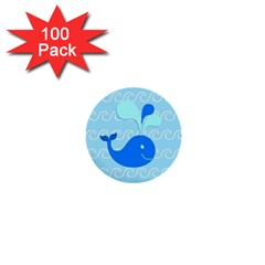 Playing In The Waves 1  Mini Button (100 pack)
