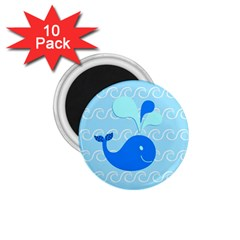 Playing In The Waves 1.75  Button Magnet (10 pack)