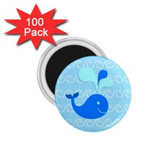 Playing In The Waves 1.75  Button Magnet (100 pack)