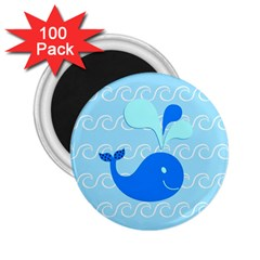 Playing In The Waves 2.25  Button Magnet (100 pack)